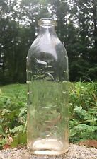 Vintage 8 Oz Glass Baby Bottle Embossed Cat And Kittens With Yarn Hazel Atlas