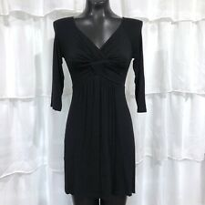 XS - CHA CHA VENTE Black Twist Front Dress