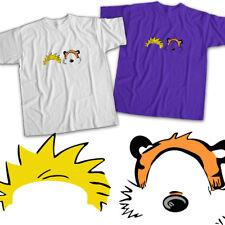 Calvin and Hobbes Head Face Comics Friends Mens Womens Kids Unisex Tee T-Shirt