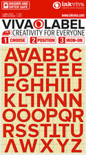 Inkviva Iron On 3D Letters Heat Transfer Label Name Appliqué -Half Inch -12mm
