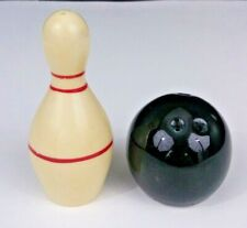 Vintage Novelty Bowling Ball & Bowling Pin Salt & Pepper Shakers Ceramic