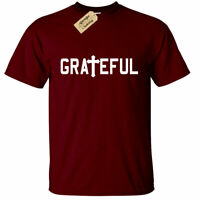 Mens Grateful Christian Religious Tee Cross Jesus Religion Tee