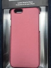 Adopted Fitted Pink Mauve Leather Texture Wrap Case iPhone 6 6s Cell Phone