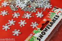 100 SNOWFLAKE TABLE CONFETTI SCATTER FROZEN ICE DECORATION SNOWFLAKES CHRISTMAS