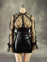 1/6 Mesh Bra Corset Tight Short Skirt Clothing Model Fit 12'' Female Figure Body