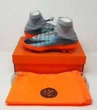 Nike Mercurial Superfly V CR7 FG Soccer Cleats (Sz 10.5) Grey/Silver/Orange