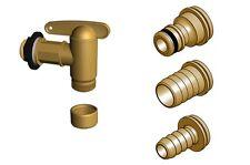Aqua-Efecto de latón quick alto caudal HOZELOCK/resorte cerradura de agua grifo a tope