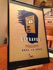"""BIG 11X17 FRAMED ORIGINAL & RARE ULTRAVOX """"RAGE IN EDEN"""" LP ALBUM CD PROMO AD"""