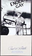 Enola Gay Pilot Paul Tibbets Autograph Card Atomic Bomb Japan World War II