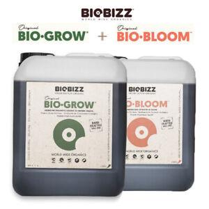 BioBizz Grow + Bloom 2x 5 L Starter Set Erde organischer Dünger Blüte Wachstum
