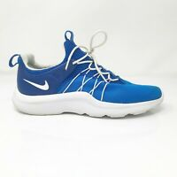 Nike Mens Darwin 819803-414 Blue White Running Shoes Lace Up Low Top Size 8