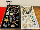 Antique+Vintage+Jewelry+Costume+Estate+Lot+Eclectic+Signed+Earrings+Brooch+Pins
