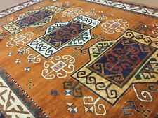 "8'.3"" x 11'.8"" Tribal Geometric Afghan Oriental Area Rug Hand Knotted Orange"