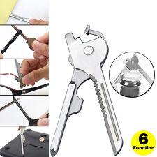 Keychain Tool 6 in1 Swiss Tech Multifunction Bottle Opener Utili Key Screwdriver