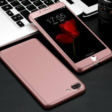 360 Full Body Hybrid Protective Case Cover+Tempered Glass for iPhone 6s 7 Plus