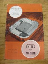 13/10/1960 Manchester United v Real Madrid [Friendly] (Token Removed, Folded, Cr