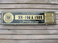 "1950'S-60's JAGUAR XK-150/150-s SERVICE CENTRE SIGN/AD W/GROWLER BADGE 1'x46"""