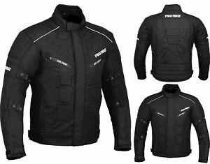 Men's Motorcycle Racing Waterproof Jacket Motorbike Riding Touring Coat Black XL