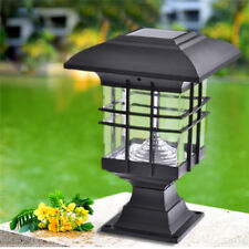 Outdoor Waterproof 5W Solar Powered LED Light Post Lamp Garden Yard Lantern