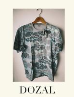 MHI BY MAHARISHI Mens TEE T SHIRT SIZE Medium NEW Gray NWT graffiti camouflage $