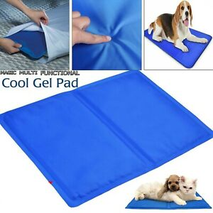 NEW PET COOLING GEL MAT BED DOG CAT SUMMER HEAT RELIEF NON TOXIC CUSHION PAD UK