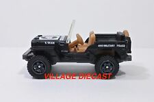 """2016 Matchbox """"Military"""" 1943 Jeep® Willys MATTE BLACK/MILITARY POLICE/MINT"""