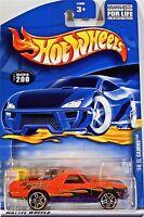 Hot Wheels 200 '68 El Camino, 2001 Xstream Xpress, Variant Card, Car & Card Mint