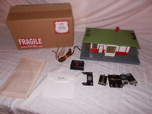 AMERICAN FLYER #755 MYSTIC TALKING STATION WORKS GREAT! IN REPRO BOX LOT #L-222