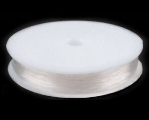Elastic Stretch Beading Cord Transparent Thread Wire  0.4mm - 1mm Clear & Black