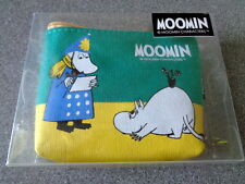New Moomin Characters Green Yellow Canvas Coin Purse - The Hemul, Moomintroll