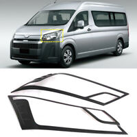 For Toyota HiAce H300 2019 2020 Carbon Fiber Color Front Headlight Cover Trim