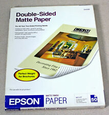 Epson Double-Sided Matte Paper 8.5x11 Inches