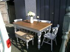Handmade Solid Wood Farmhouse Table & Chair Sets
