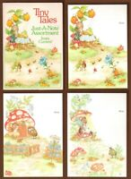 5 Vintage Current Tiny Tales Just-A-Notes 1980 Pam Peltier Code 1267 Note Cards