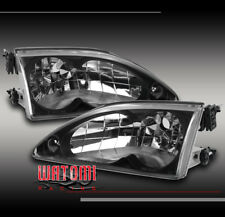 94-98 FORD MUSTANG CRYSTAL DIAMOND HEADLIGHTS BLACK 95 96 97 GT GTS SVT COBRA R