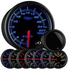 GlowShift Tinted 7 Color Series 2400 Degree Exhaust Gas Temperature Gauge