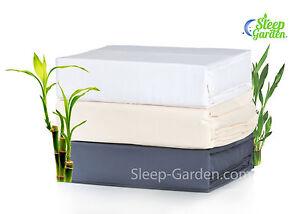SLEEP GARDEN 100% Bamboo Sheets, 320tc, 3-4 Piece Sheet Set, All Sizes! 3 Colors