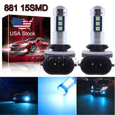 881 889 3030 15SMD LED Fog Light Conversion Kit Super Bright 8000K Ice Blue US