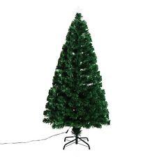 Homcom Albero di Natale Artificiale in Fibra Ottica con Supporto 120cm