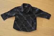 Next Baby Boys Black Blue Shirt Formal 3-6 months Christmas Party VGC