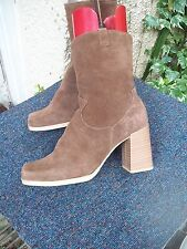 New Look Suede Upper Ankle Boots Block Shoes for Women