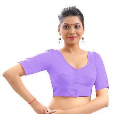 Cotton Casual Blouse Top Choli Indian Bollywood Wedding Saree Dress Skirt Dupion