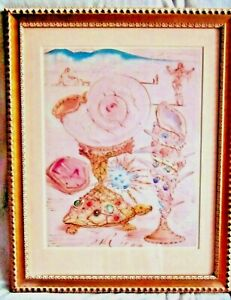 1960s Limited Edition Salvador Dali Lithograph Beautifully Framed