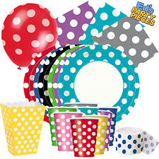 POLKA DOT Colours PARTY TABLEWARE  Birthday/Events/Catering/Wedding/Occasion