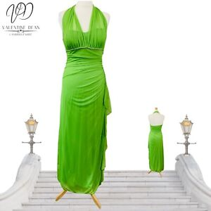 Betsy Adam Women Evening Dress Party Cleavage Back Green Size 12 Diamante