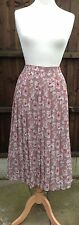 Vintage Pleated Skirt from House of Fraser Beautiful Print Size 10 VGC