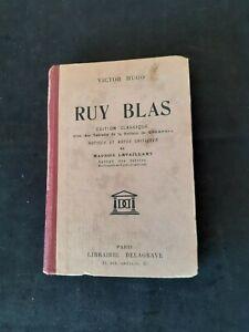 Victor Hugo - Ruy Blas - Notes de Maurice Levaillant - Delagrave (1934)