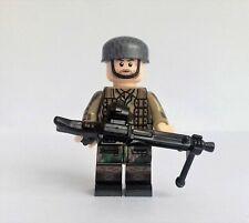 minifigure ww2 German fallschirmjäger machine gun compatibile lego ww2 brick war