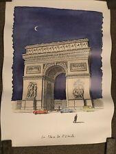 """Vintage Original Pierre Le Tan """"La Place De L'Etoile"""" Poster 1993"""