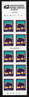 US #3484d 2001 21c Bison Booklet Pane of 10 Unfolded. Mint NH. FREE SHIPPING
